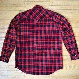 Eagle Crest Shirts - Vintage Red & Navy Flannel